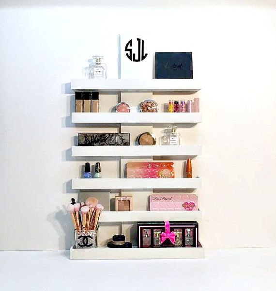Makeup Organizer Makeup Storage Wall Mounted Makeup Makeup Shelves Makeup Storage Wall Makeup Storage Organization