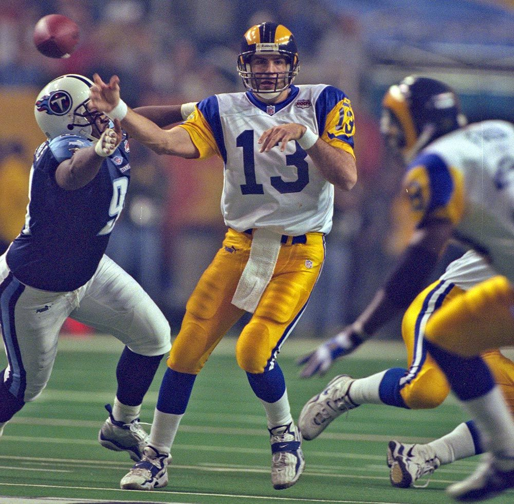 Kurt Warner Rams Facemask