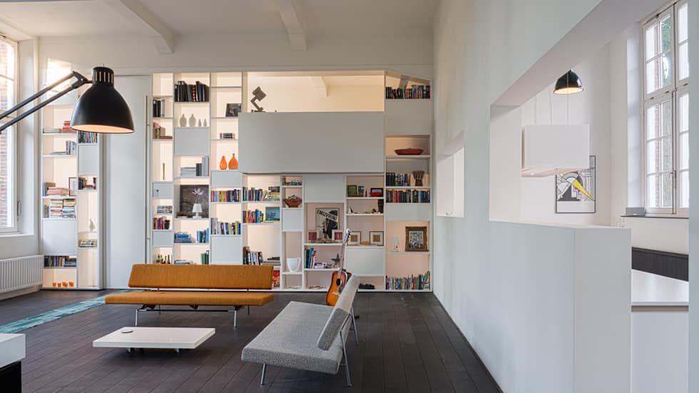 Afbeeldingsresultaat voor kastenwand woonkamer | Boekenkast wand ...