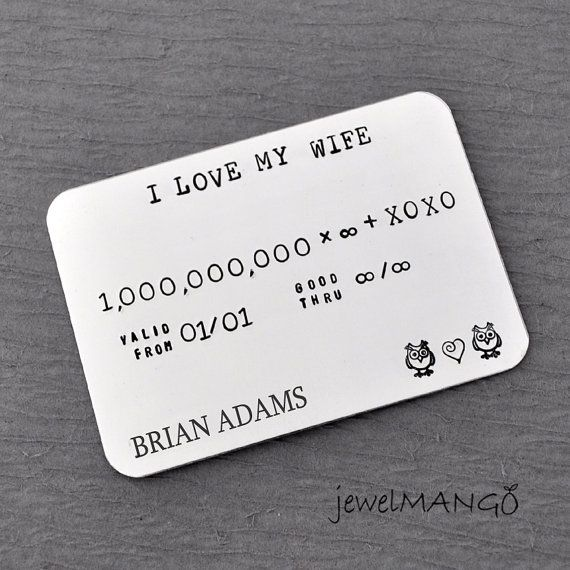 Unique Gifts For Husband On Wedding Day: Personalized Credit Card, Wife, Father's Day Gifts, Men's