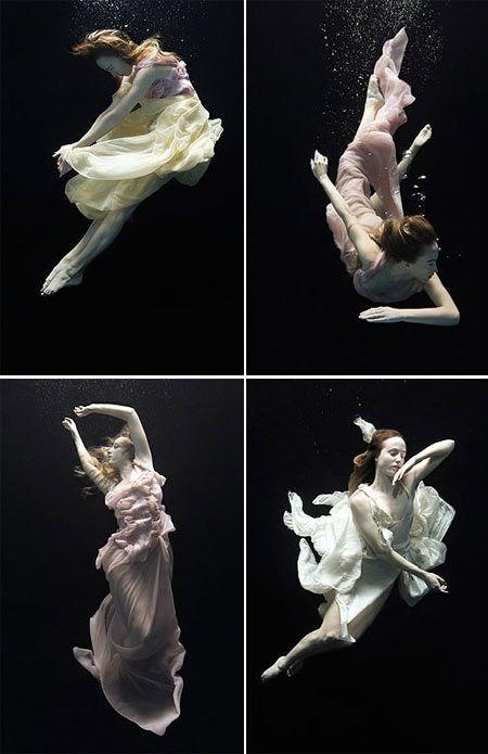 Underwater, fotografías de Nadia Moro: espectaculares figuras de ballet dentro del agua.