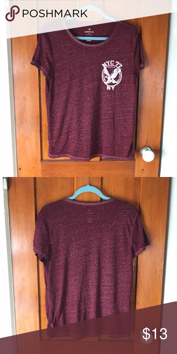 6dabb3bb Shirt Favorite T-shirt from American Eagle Outfitters. Super soft and comfy,  a bit see-through. Smoke-free household, lightly worn. American Eagle ...