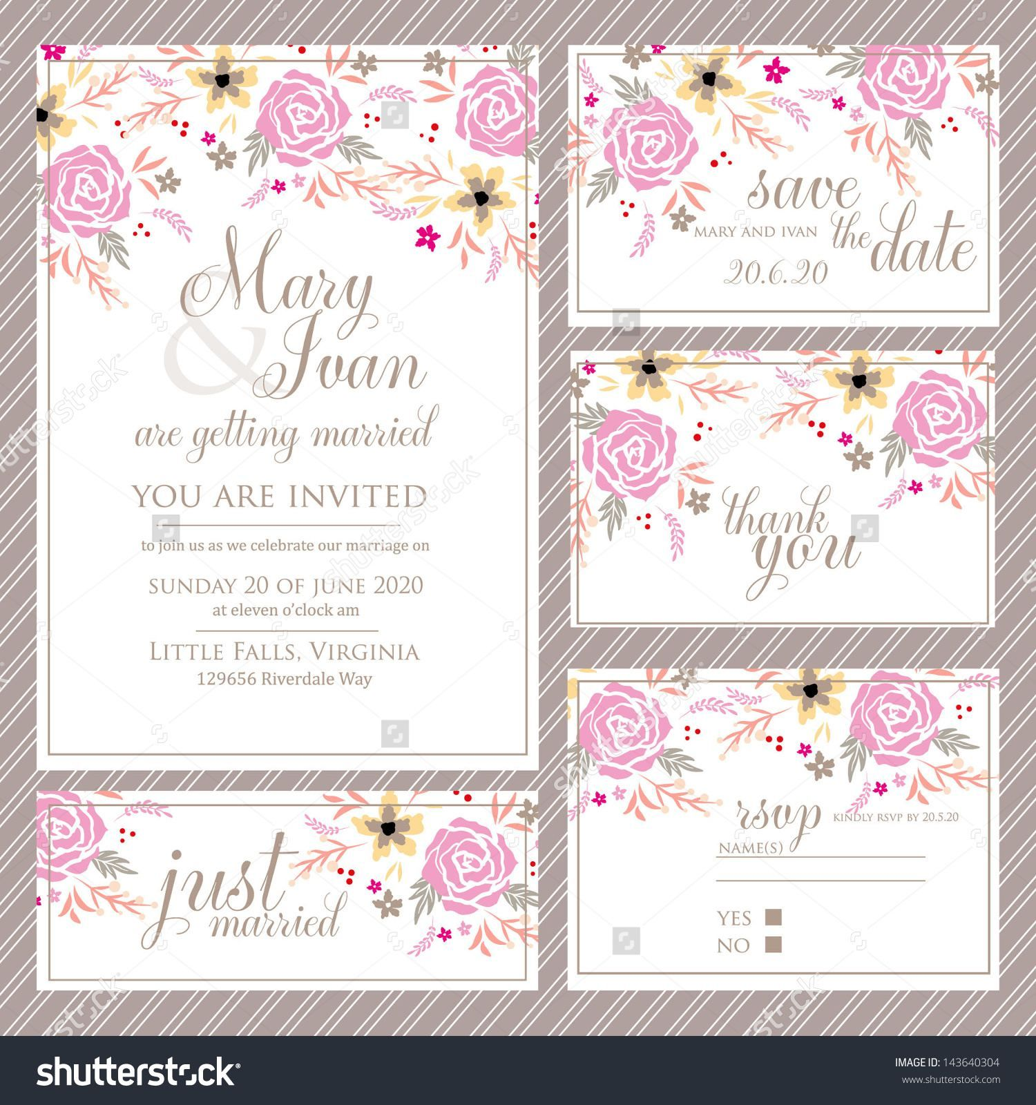 Wedding Invitations And Rsvp Cards Package Choice Image Wedding