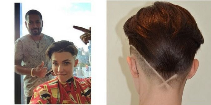 This New Ruby Rose Hairstyle Is A Fresh Take On The Buzzcut Ruby Rose Hair Ruby Rose Haircut Hairstyle