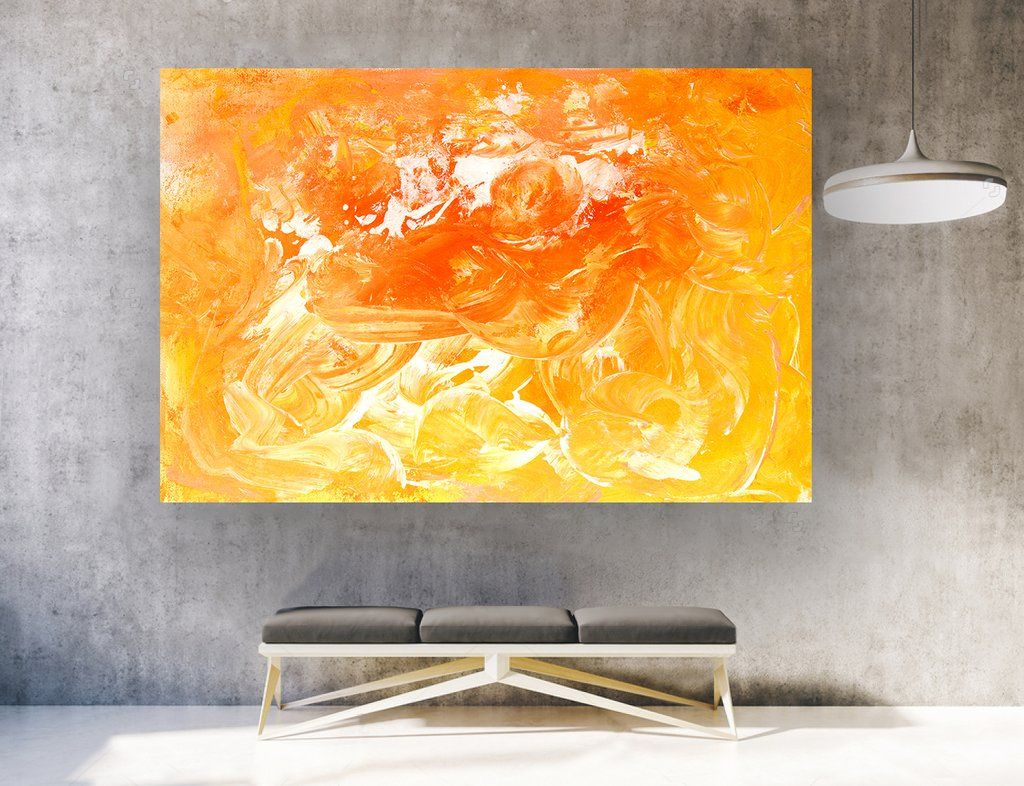 Large Abstract Wall Art ,Horizontal #LA0013e | Abstract/ paint ...