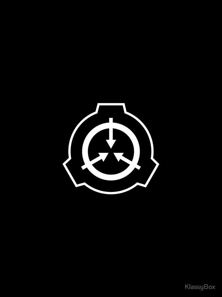 'SCP Foudation Logo - White on Black' by KlassyBox
