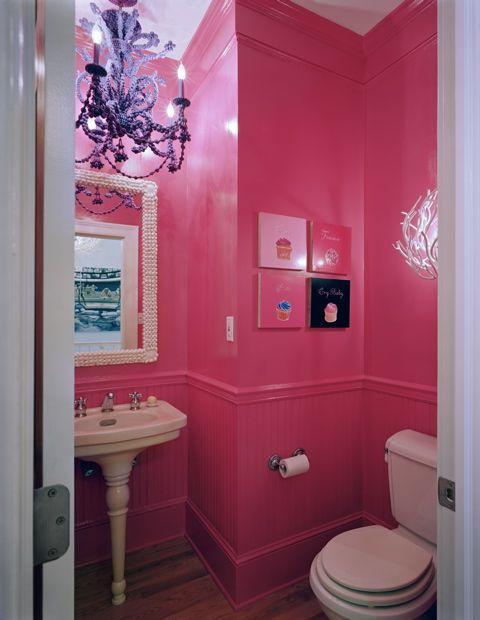 The Decorista Hot Pink Bathroom Pink Bathroom Pink Walls