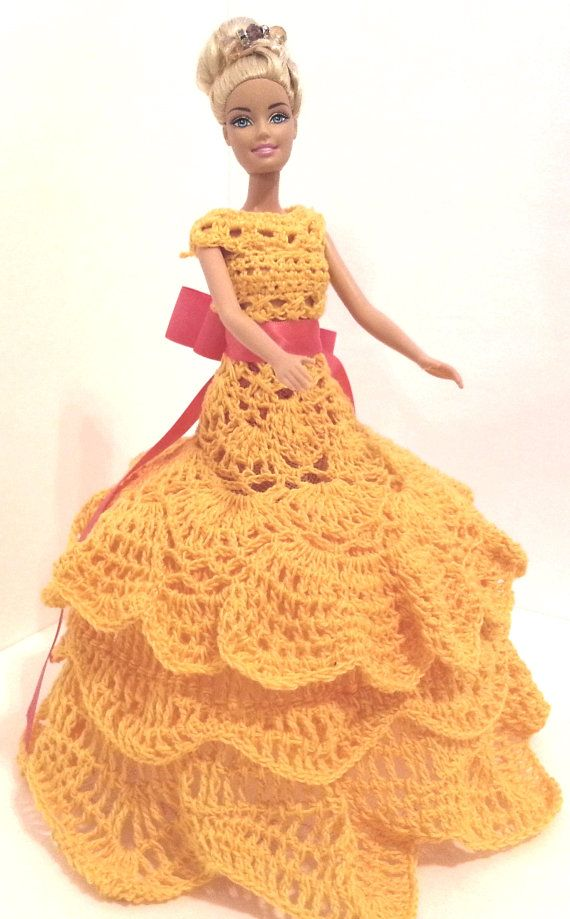 Crochet barbie doll gown //pillow doll// doll included//