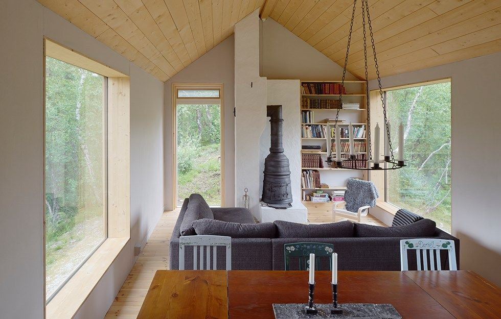 Ljungdalen Holiday Home By Lowen Widman Arkitektur Ljungdalen Is A Small Village In Harjedalen The Cabin Is Situated A House House In The Woods House Interior