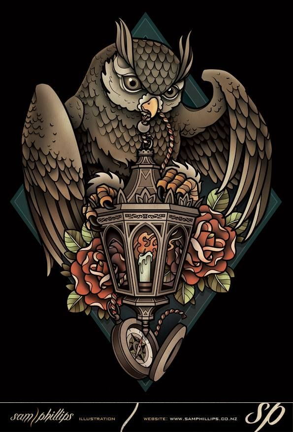 Pin by Yohanes Yohantaka on Burung hantu  Owl tattoo design