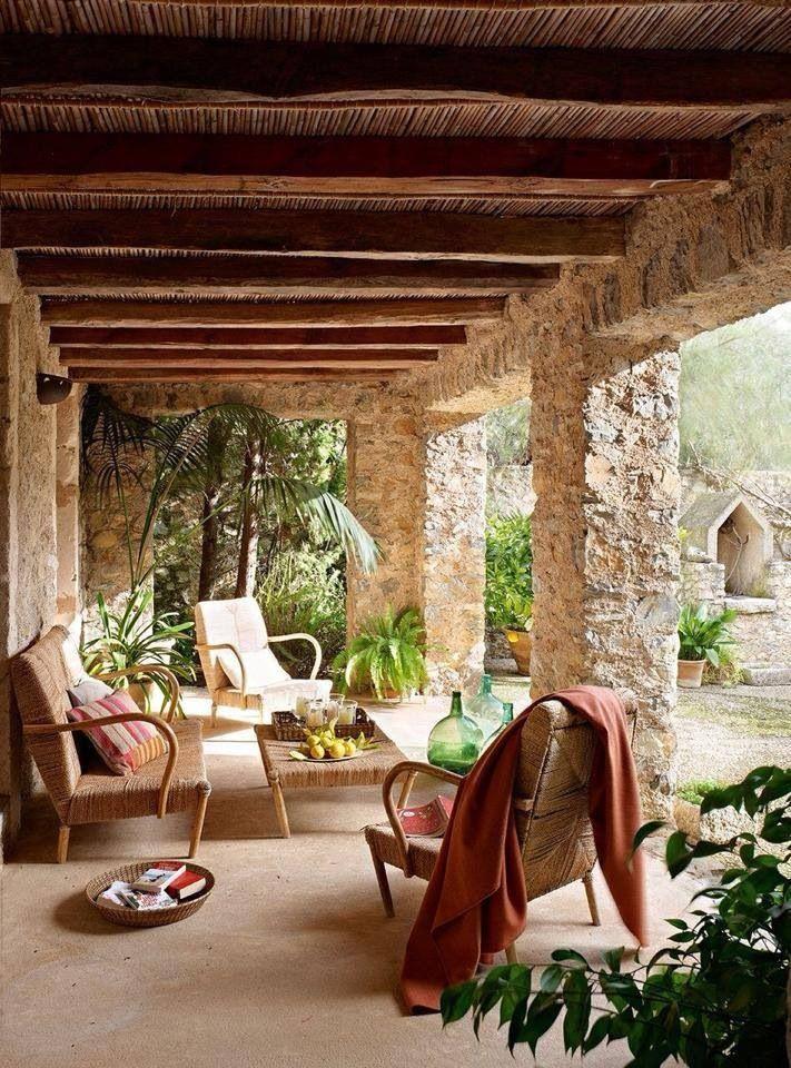 Pin de lisa d 39 ambrose en places to chill pinterest for Terrazas para casas de campo