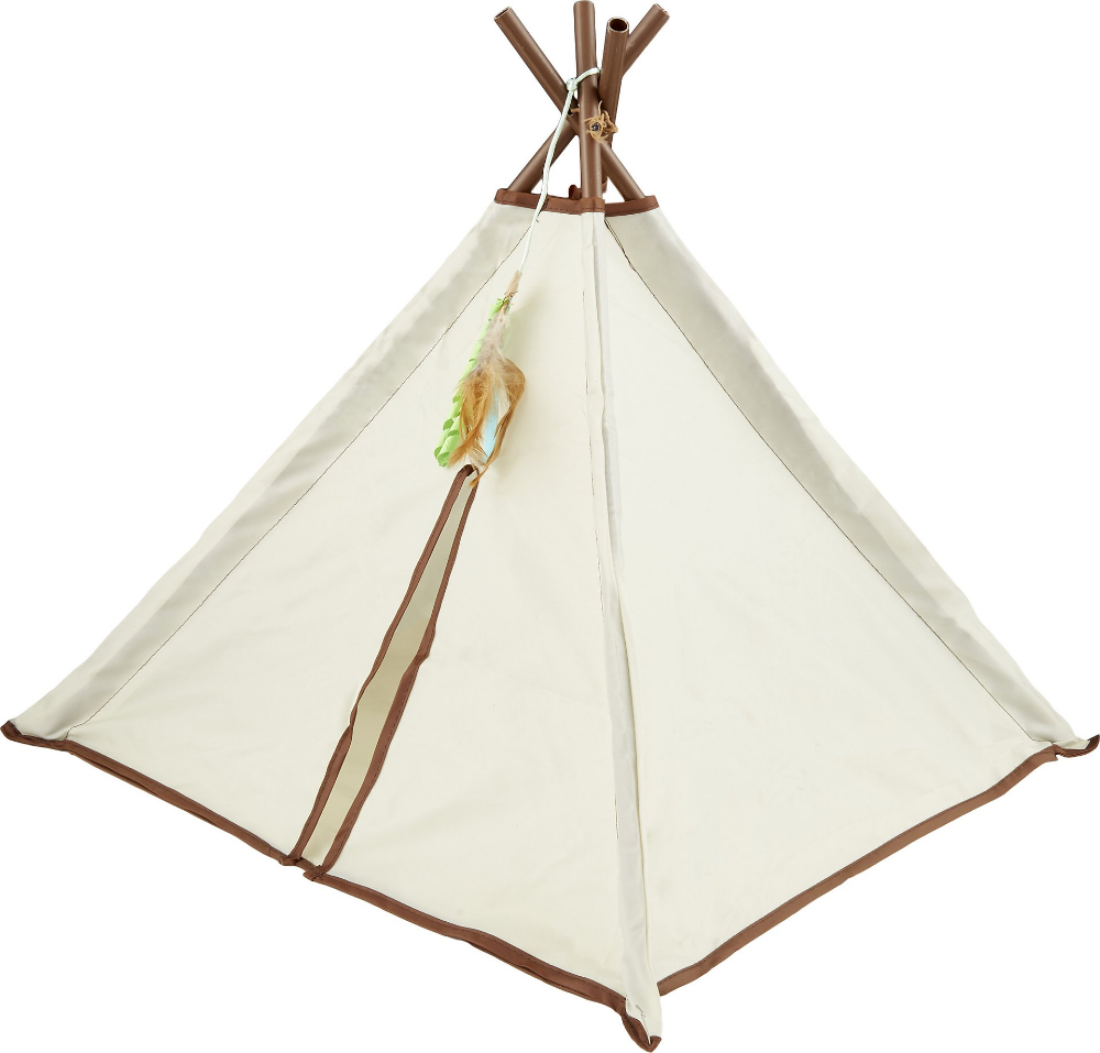 SmartyKat Kitty Camp TeePee Cat Toy Cat toys