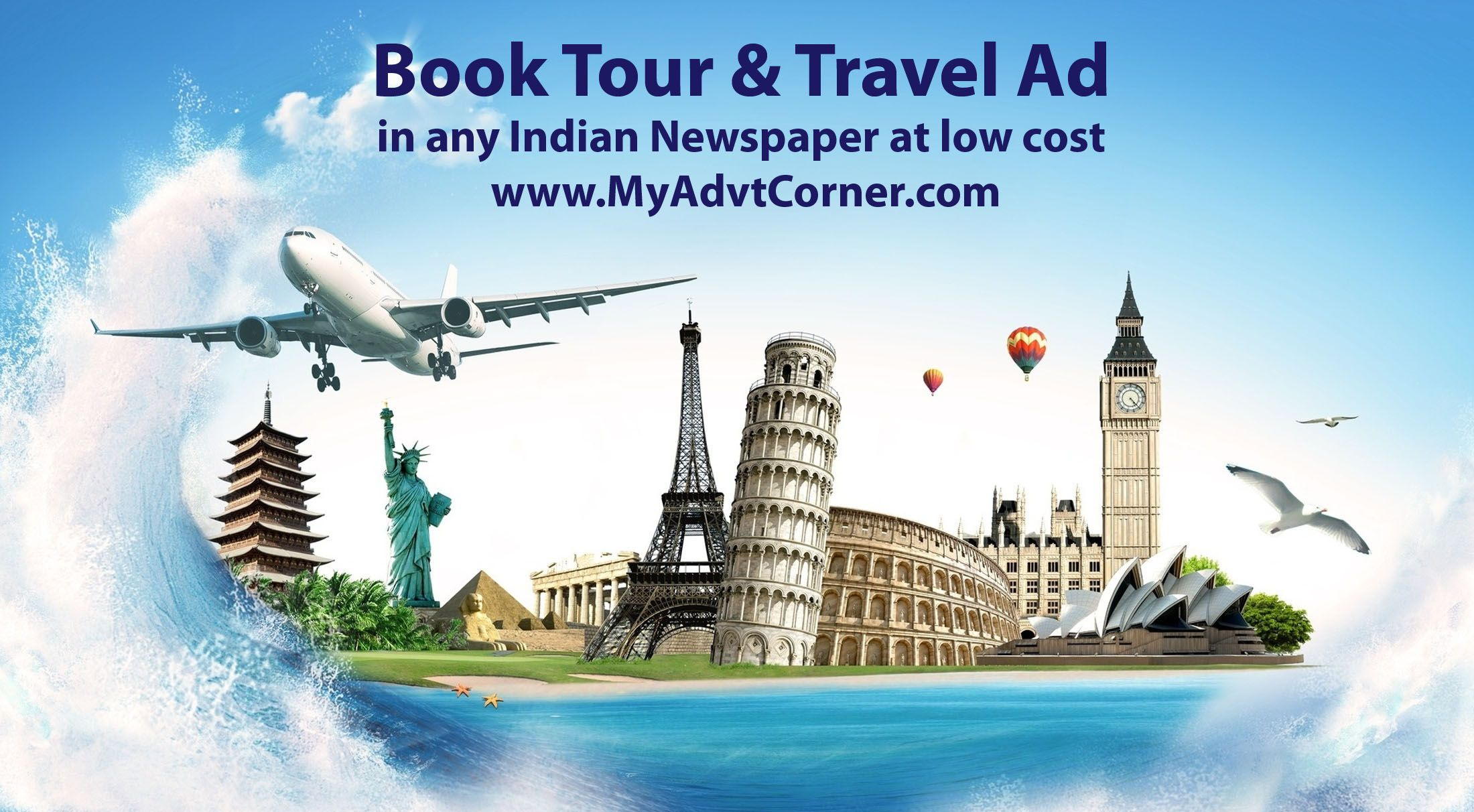 Book Tour and travel Ads in Newspaper Tour and Travel