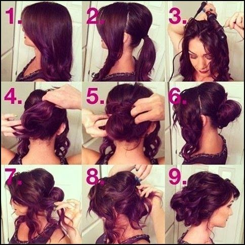 How To Easy Updos For Long Curly Hair Girl Hair Style Long Hair Updo Updos For Medium Length Hair Hair Styles