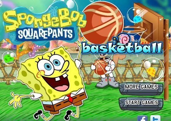 لعبة كرة السلة سبونج بوب Game Start More Games System