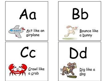 AZ Alphabet Activity Flash Cards Early Literacy Letters