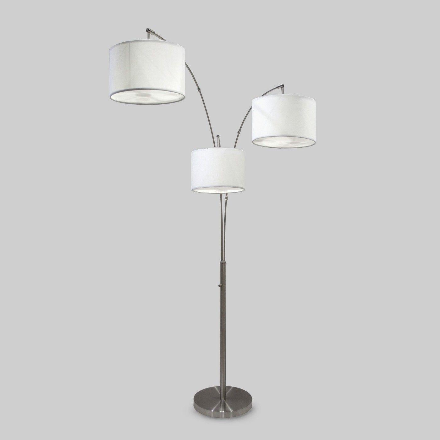 Avenal Shaded Arc Floor Lamp  Arc floor lamps, Energy efficient