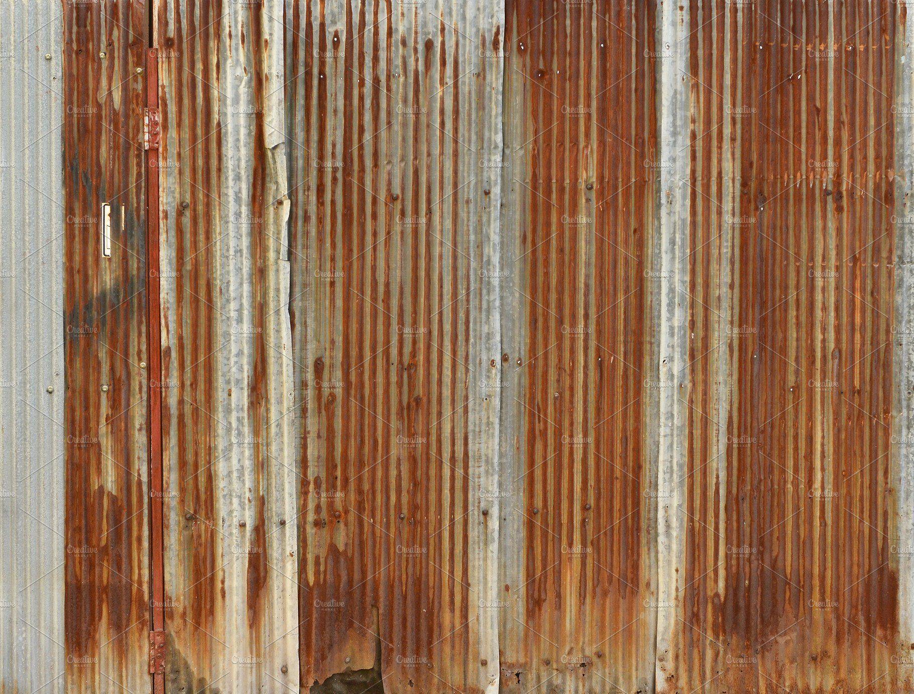 Rusty Corrugated Iron Metal Zinc Wall Background Corrugated Metal Wall Corrugated Corrugated Wall