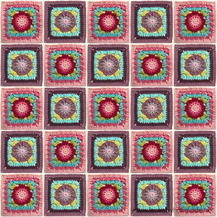 35 Free Crochet Afghan Square Patterns Organized By Size Free