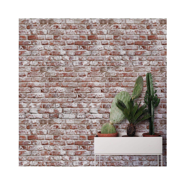Whitewashed Antique Brick Peel N Stick Or Traditional Etsy Antique Brick White Wash Brick Fake Brick Wall