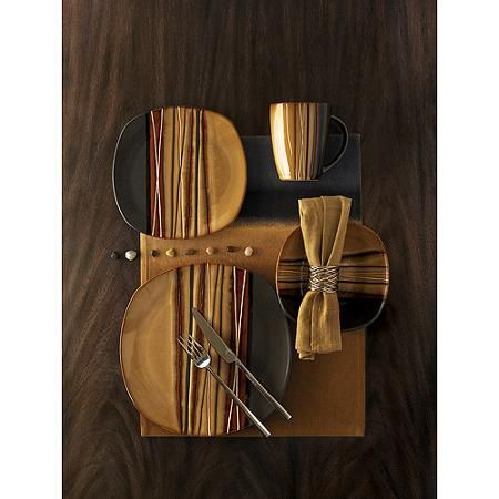 Better Homes and Gardens Bazaar Brown 16-Piece Dinnerware Set $39.00  sc 1 st  Pinterest & Better Homes and Gardens Bazaar Brown 16-Piece Dinnerware Set $39.00 ...