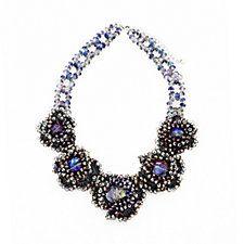 Butler & Wilson 5 Flowers Crochet & Beads 46cm Necklace
