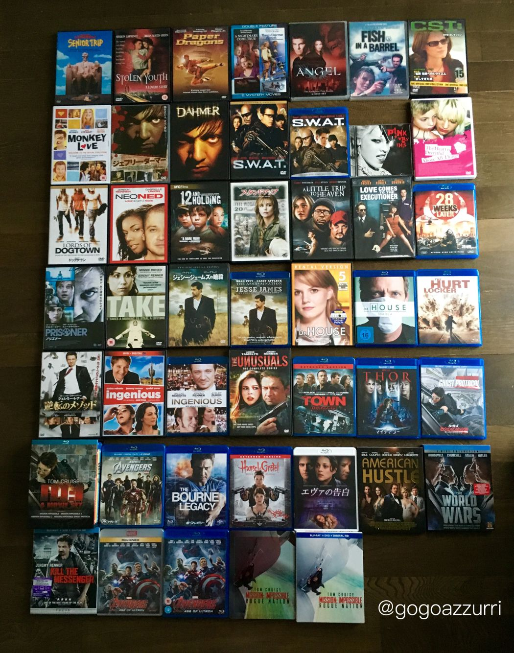 I collected all the DVD & Blu-ray of Jeremy Renner.