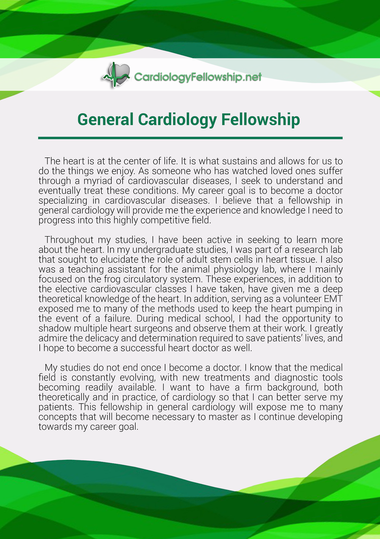 Pin by Cardiology Fellowship PS Samples Canada on General