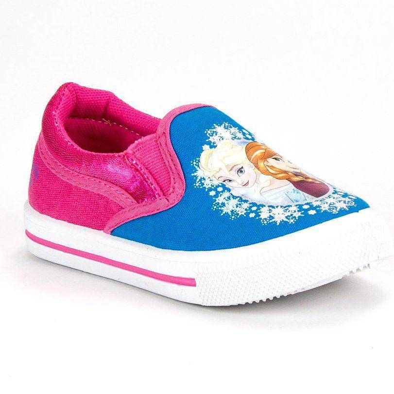 Buty Sportowe Dzieciece Dla Dzieci Butymodne Trampki Slipony Kraina Lodu Shoes Slip On Sneaker Sneakers