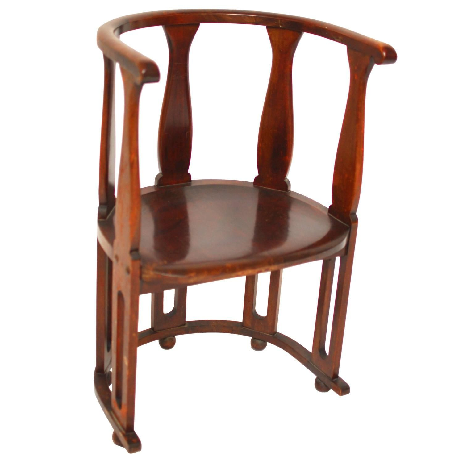 High back antique chairs - Arts And Crafts High Back Barrel Chair