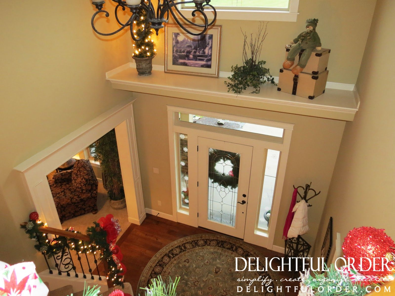 Delightful Order My 2012 Christmas Decor Home Tour Part 1 Ledge Decor High Ceiling Living Room Above Door Decor