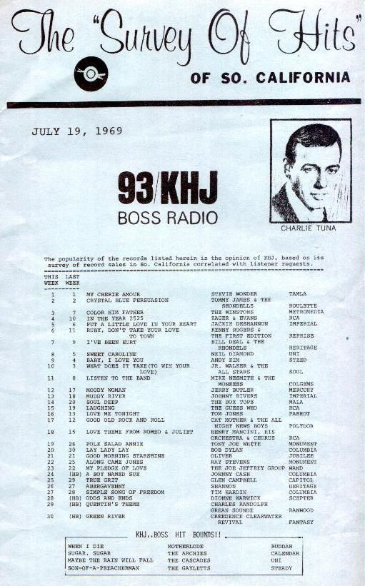 Khj Los Angeles Ca 1969 07 19 Music Charts Music Hits Music Memories