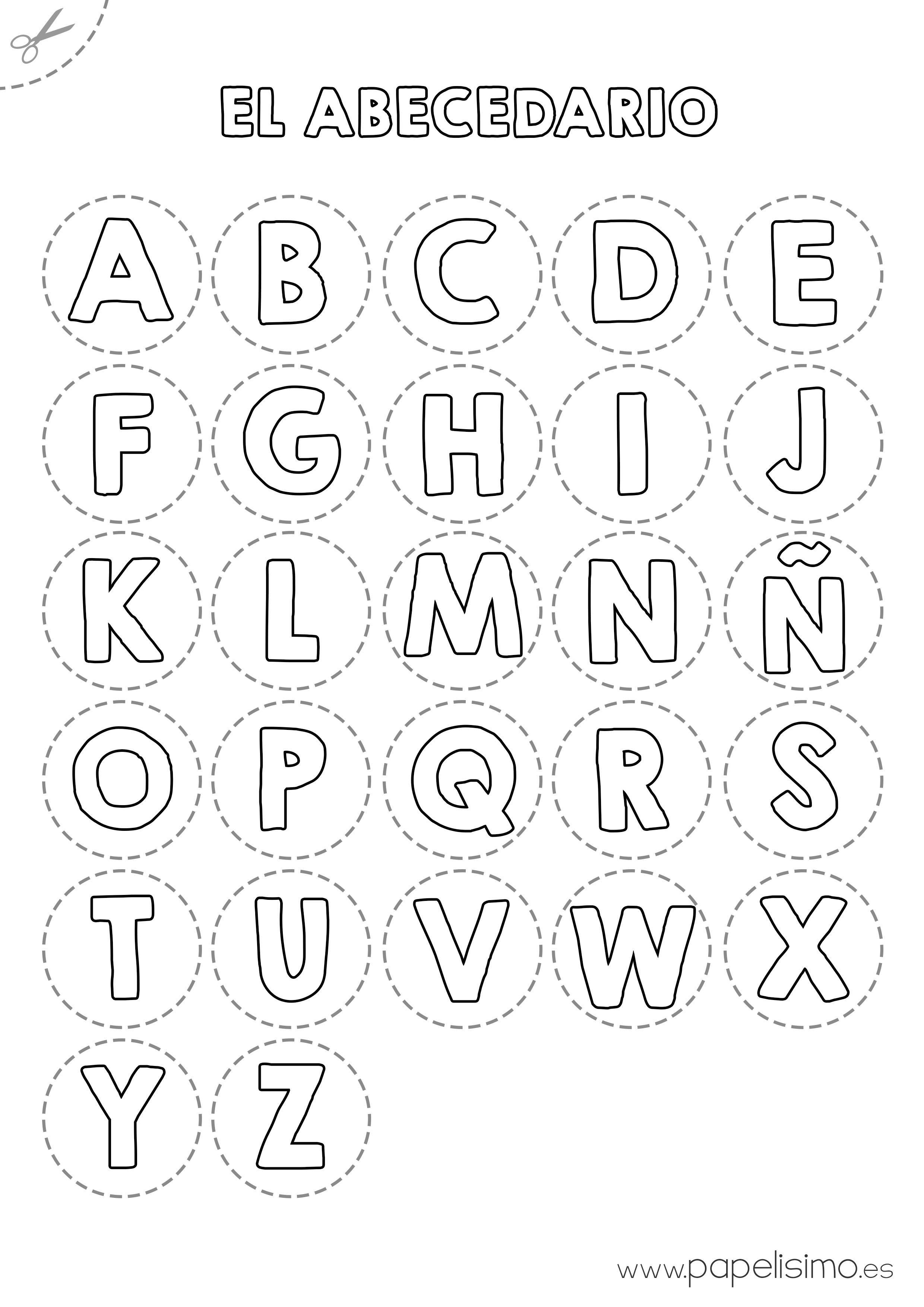 Abecedario Para Colorear Y Recortar Papelisimo Abecedario Para Imprimir Letras Para Recortar Aprender El Abecedario