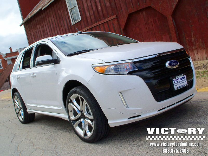 Very Cool 2012 Ford Edge Sport From Victory Ford Fully Loaded W 22 Wheels A Real Grocery Getter Ford Edge Sport Ford Edge Family Cars Suv