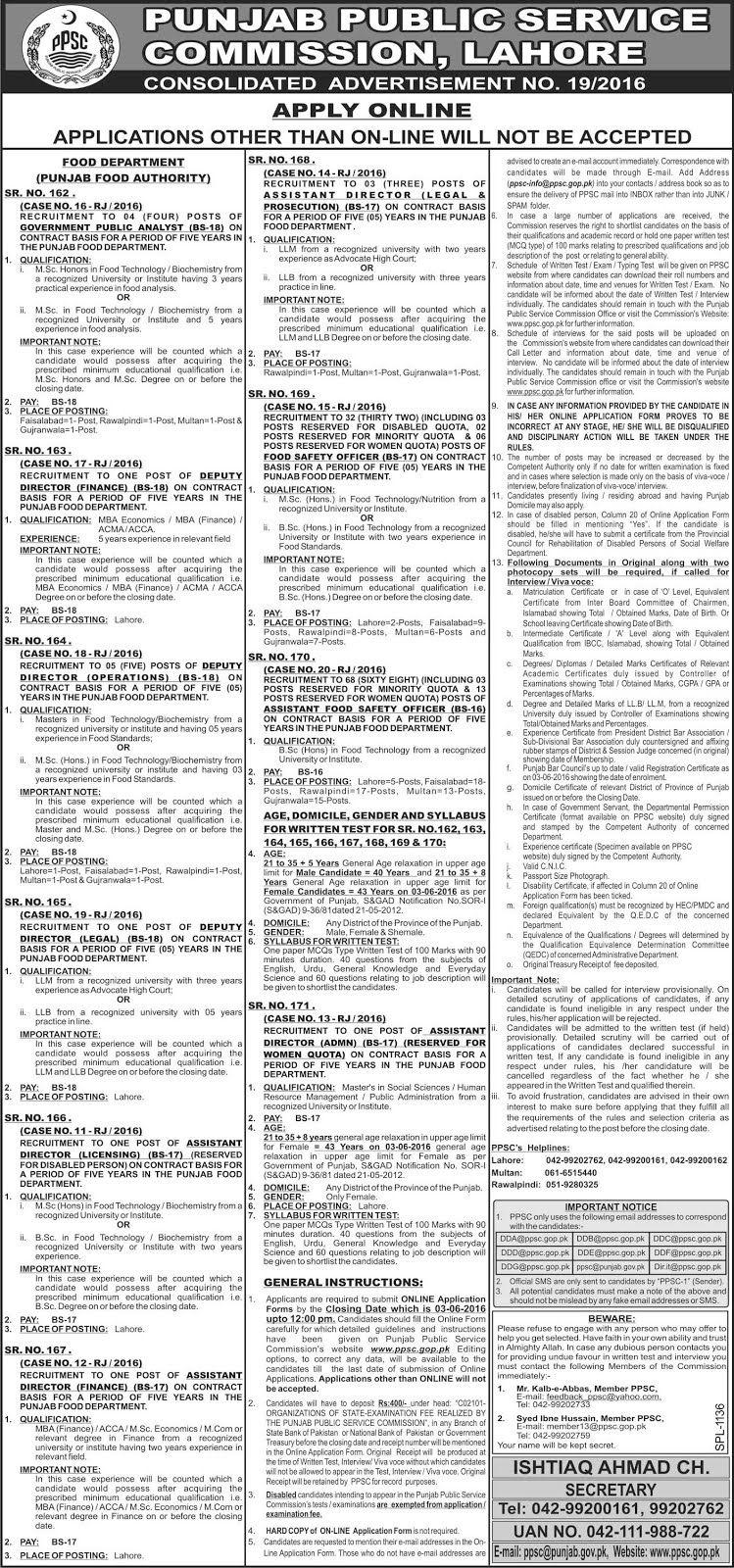 Punjab Public Service Commission Lahore (PPSC) Jobs Jobs