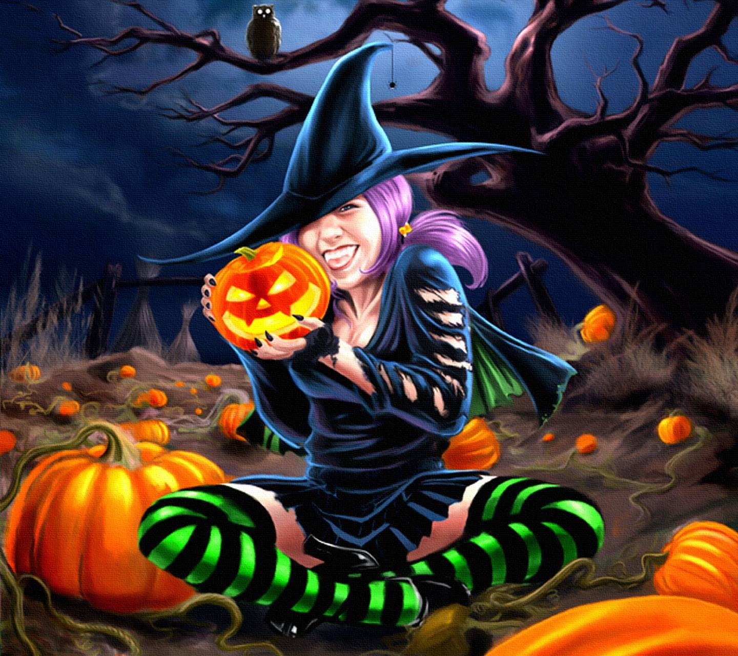 Pin By Priscilla Gibson On Halloween In 2020 Witch Wallpaper Halloween Painting Halloween Wallpaper