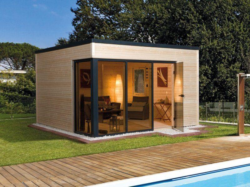 """Gartenhaus Designhaus """"Cubilis Gr. 1"""" 45 mm naturbelassen"""