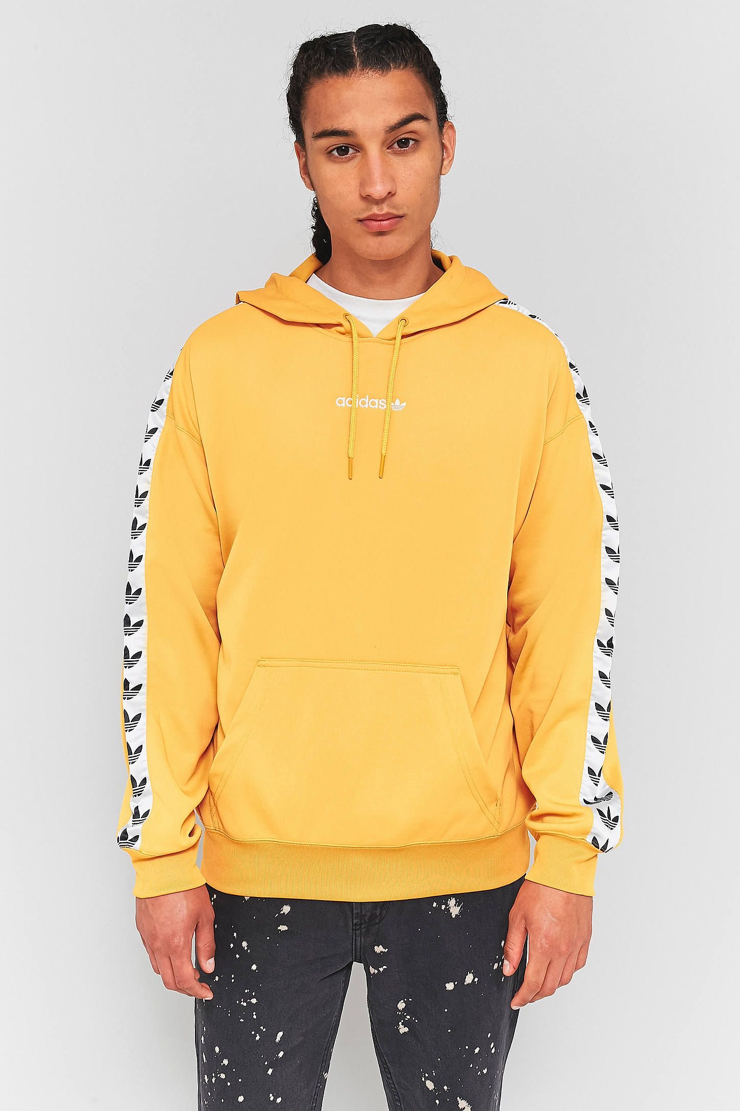 2431e1a75b Slide View  2  adidas TNT Yellow and White Taped Hoodie