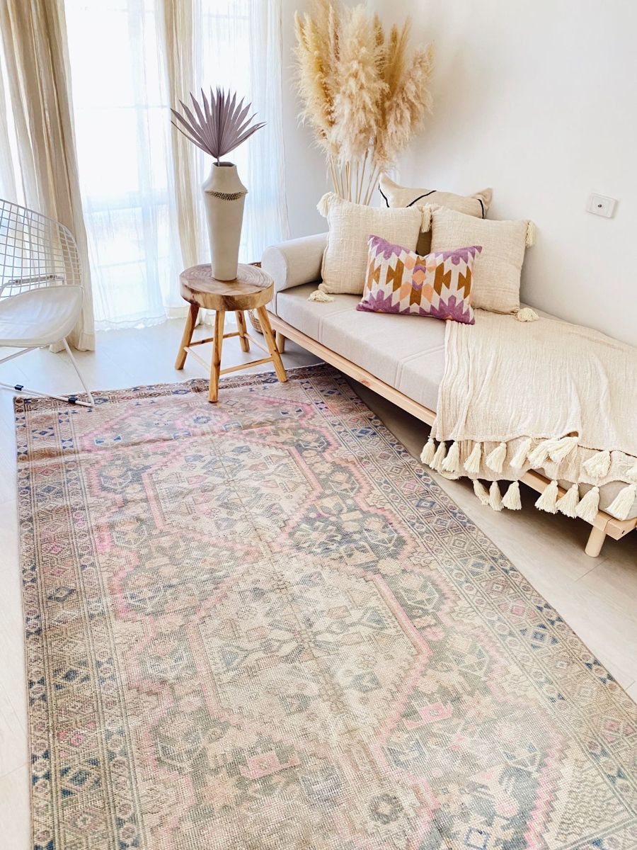 Boho Eclectic Living Room Using A Rug In A Space Totally Transforms It Livingroominspo E Blue Couch Living Room Rugs In Living Room Eclectic Living Room