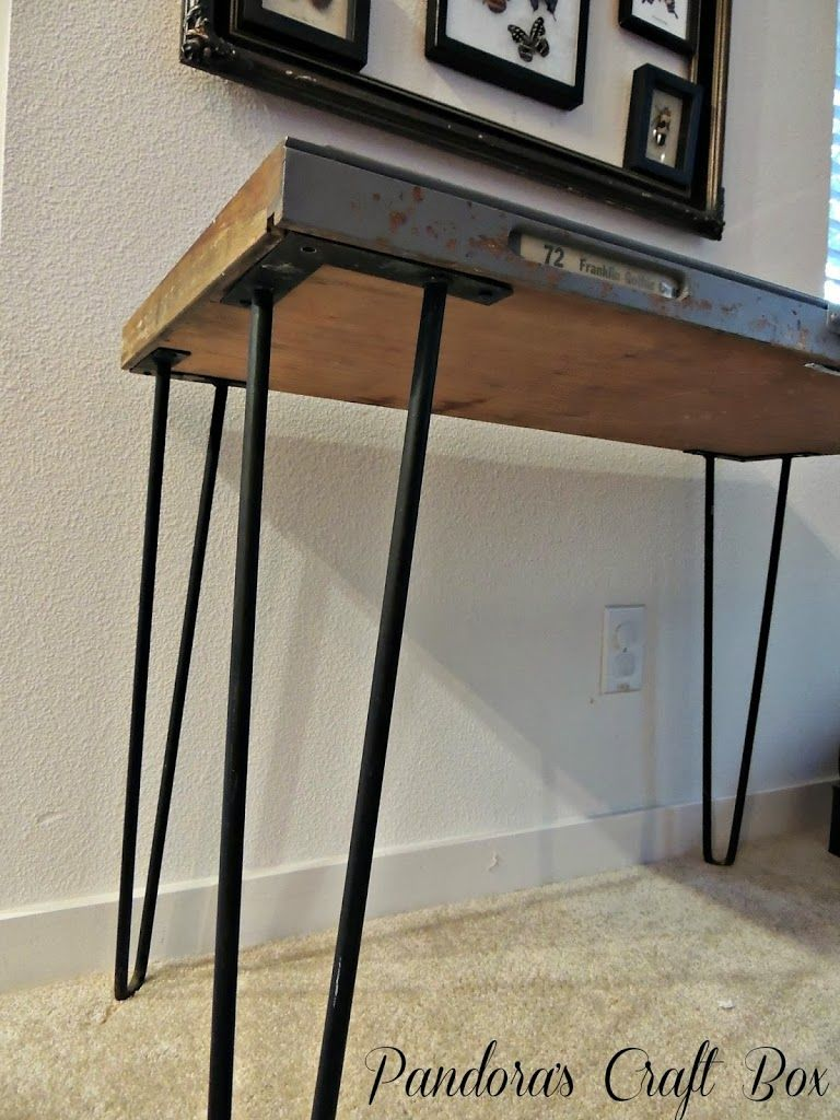 vintage wood letterpress drawer printers tray table tutorial