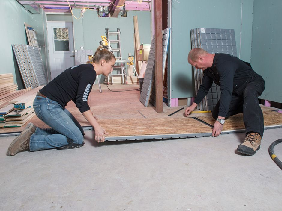 Mike And His Daughter, Sherry, Install Insulated Sub-floor