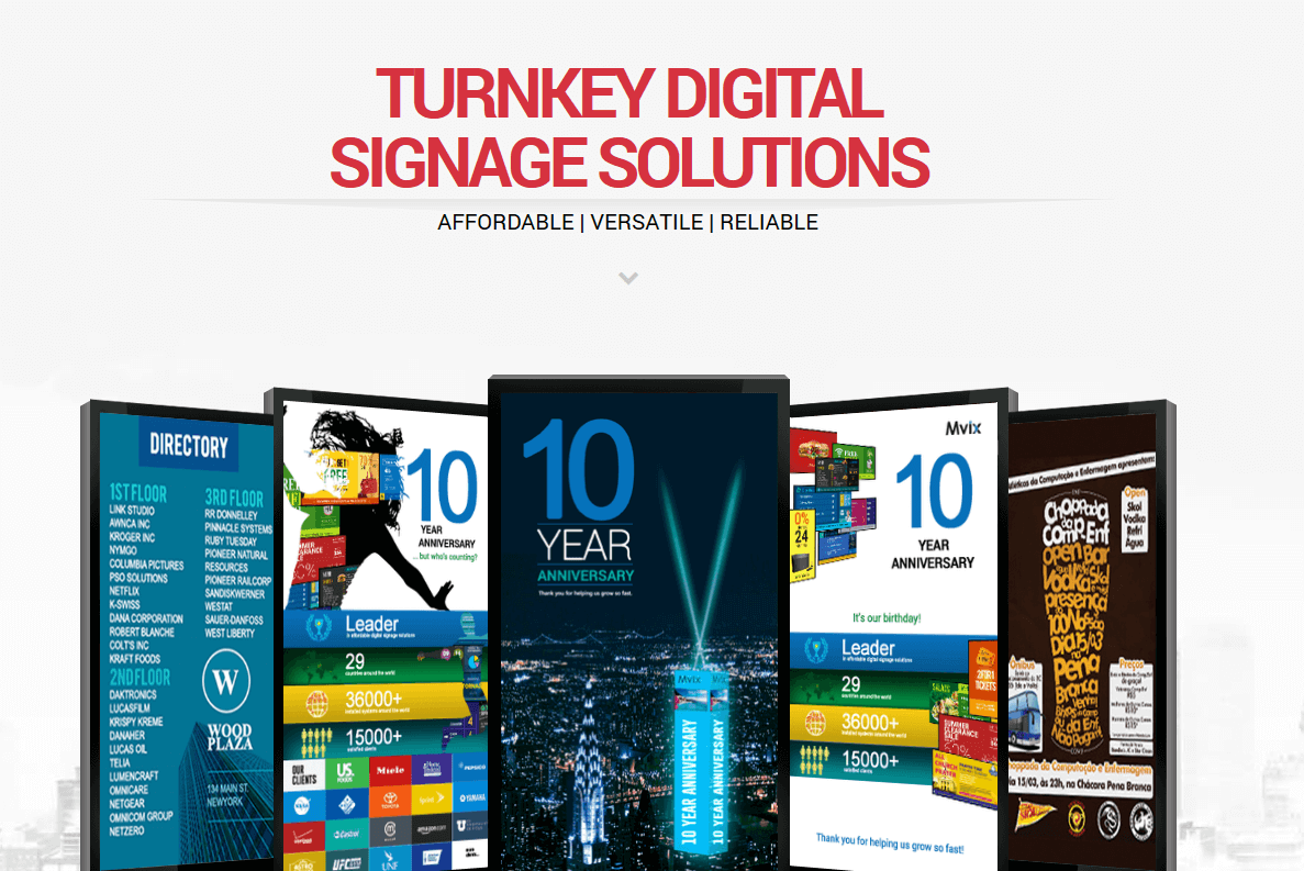 Use The Mvix Digital Signage Estimator To Map Out Your Digital Signage Needs We Ll Help You Identify Solution Soft Digital Signage Digital Menu Boards Signage