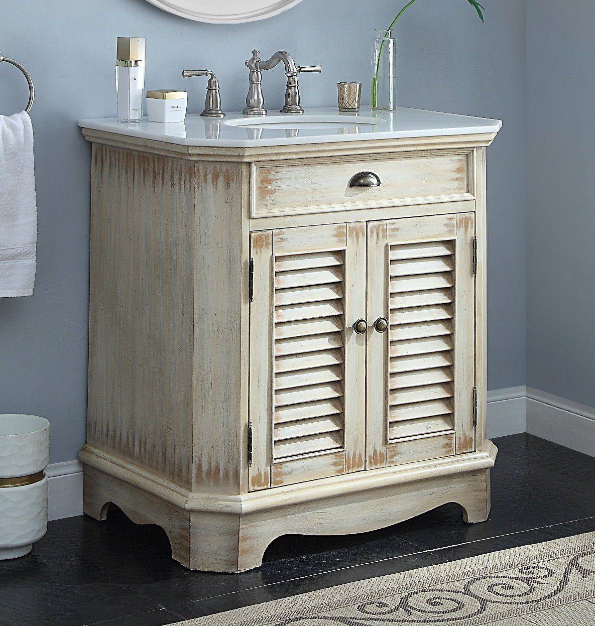 Chans Furniture 32 Distress Cottage Look Fairfield Bathroom