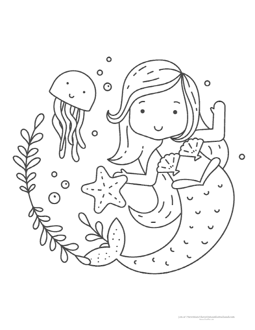 Free Printable Mermaid Coloring Pages In 3 Different Designs The Little Mermaid The Little Mermaid Mermaid Coloring Pages Mermaid Coloring Cute Coloring Pages