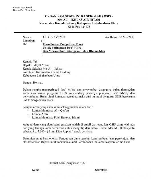 contoh surat resmi dalam bahasa inggris contoh surat rasmi