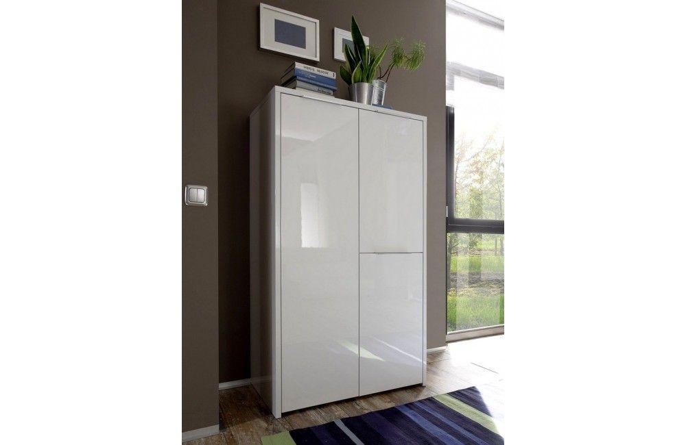 commode design blanche laqu e mobilier de salon design. Black Bedroom Furniture Sets. Home Design Ideas