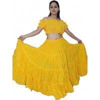 285700491f Belly Dance Skirt, Dance Skirts, Guys And Dolls, Gauze Fabric, Tribal Dance