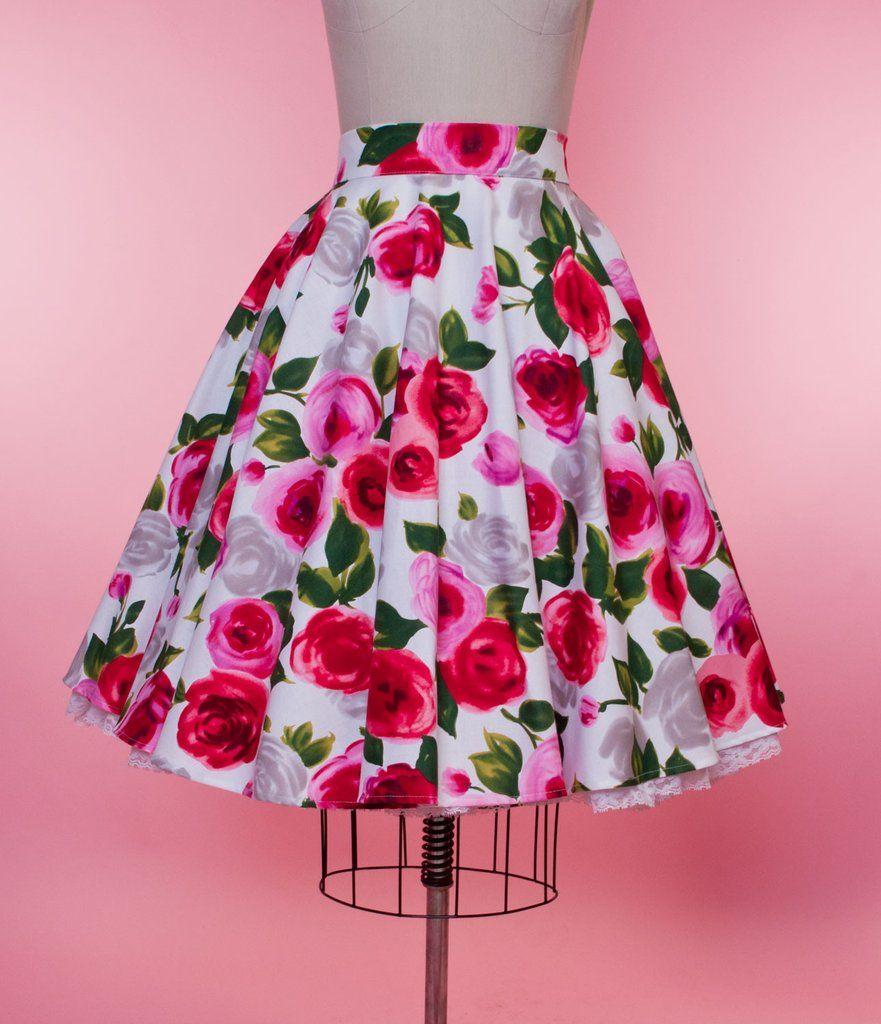 9503bb4167 Haute Circle Skirt - Ava Rose Red - Heart of Haute