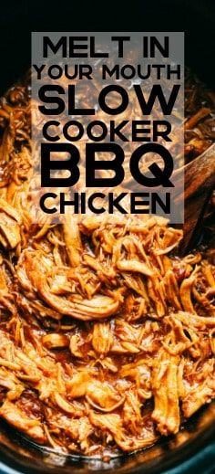 Melt in Your Mouth Slow Cooker BBQ Chicken #slowcookerrecipes