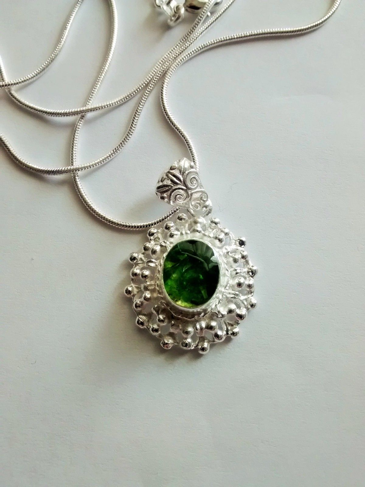 This is a beautiful russian chrome diopside pendant and it is very fashion this is a beautiful russian chrome diopside pendant aloadofball Images